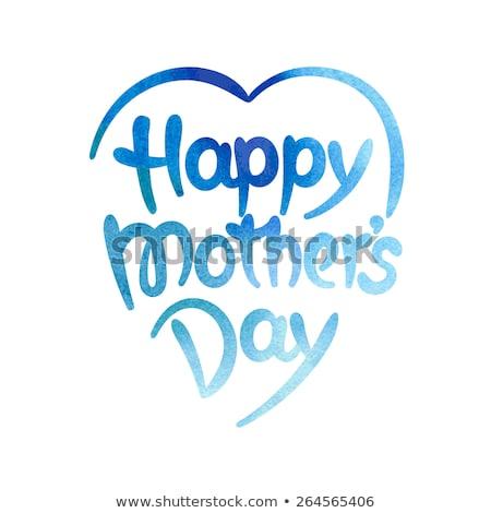 szczęśliwy · matka · dzień · serca · tag · wektora - zdjęcia stock © beholdereye