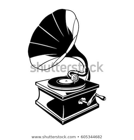 Gramofone branco fundo retro sozinho vintage Foto stock © ConceptCafe