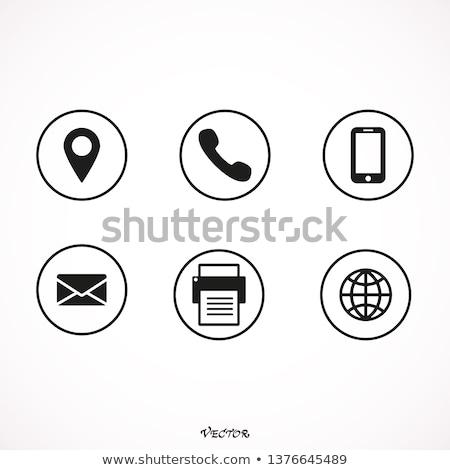 contact us icon design Stock photo © Wetzkaz