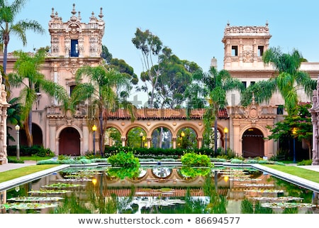 Parque San Diego Califórnia cultural centro árvore Foto stock © iriana88w