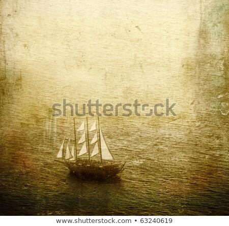 navire · illustration · isolé · blanche · été · bleu - photo stock © hermione