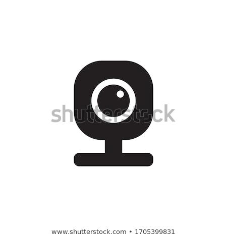 Webkamera ikon egyszerű web kamera internet technológia Stock fotó © MarySan