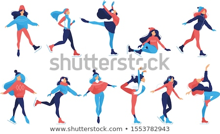 Olympics icon of person doing gymnastics Stock photo © bluering
