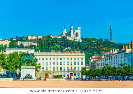 view of the city of Lyon at Place Bellecour, France Stock photo © meinzahn