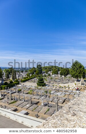 Cemetery of Loyasse on the Fourviere hill Lyon, France Stock photo © meinzahn