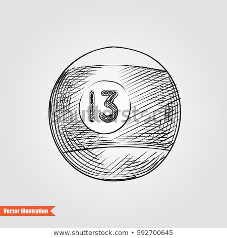 billiard ball sketch grungy doodle Stock photo © vector1st