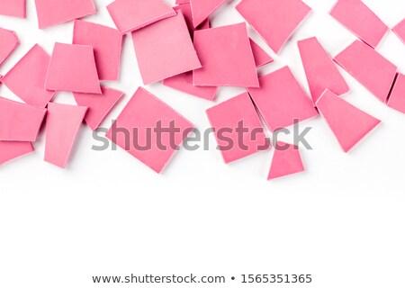 Chocolate, table, pieces, on white background Stock photo © zurijeta