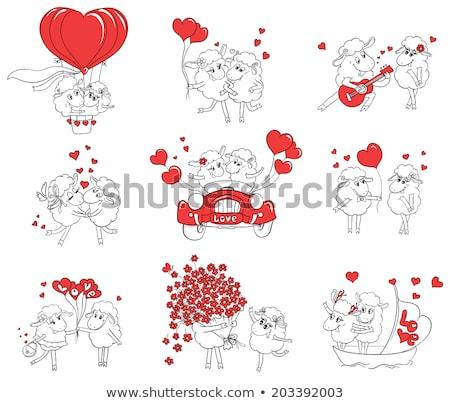 Wedding of sheeps Stock photo © adrenalina