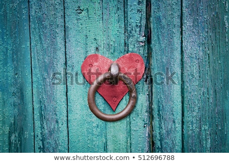 velho · ferro · porta · trancar · antigo - foto stock © njnightsky