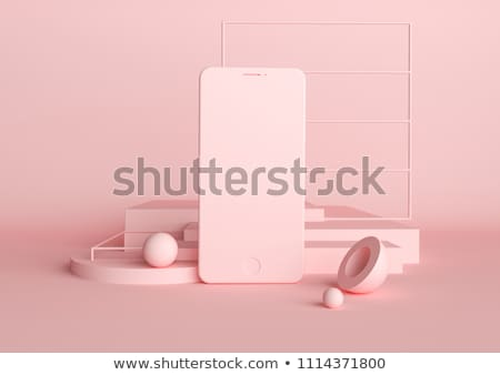 Rosa isolado ilustração original telefone Foto stock © paulfleet