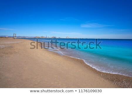 Valencia port and marina view from Pinedo Stock photo © lunamarina