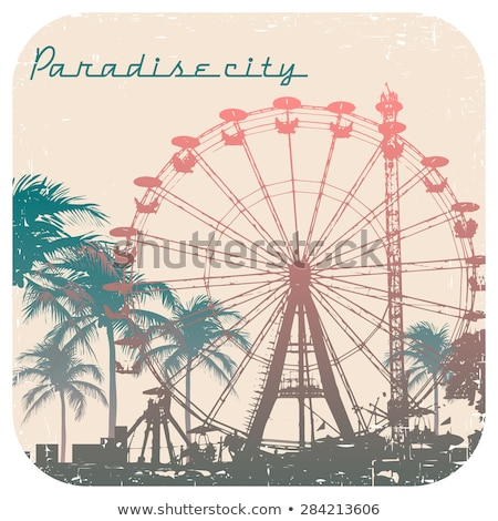 Ferris wheel on island Stock photo © bluering