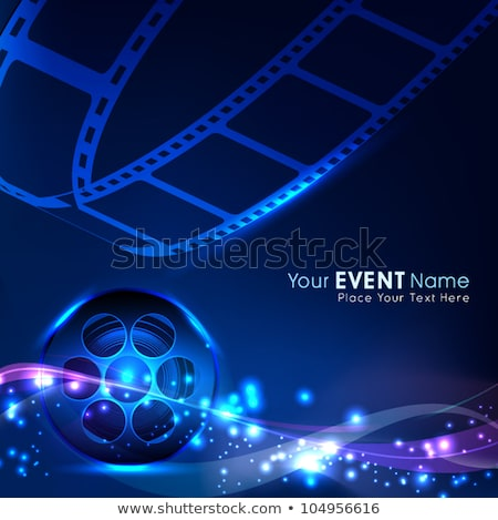 3D filmstrip design film nero Foto d'archivio © SArts
