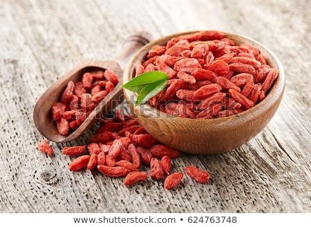 Stock fotó: Aszalt · bogyók · merítőkanál · gyümölcs · piros · senki