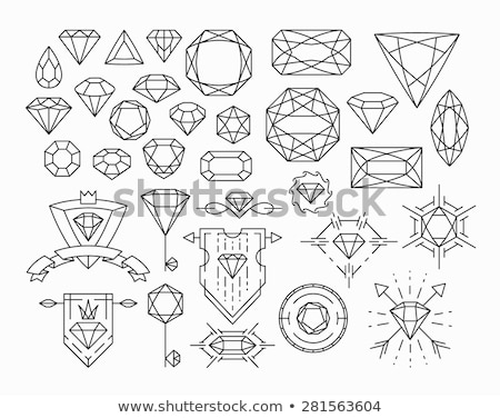 Precious stone diamond gift, vector illustration Stock photo © carodi