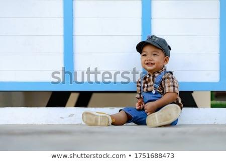 アジア 赤ちゃん 少年 かわいい ボディ ストックフォト © yongtick