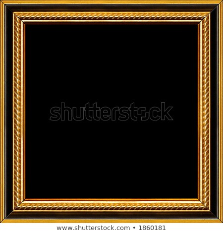 black picture frame with golden rim stock photo © gsermek
