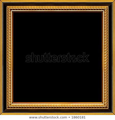 黒 画像フレーム リム 孤立した 白 ストックフォト © gsermek
