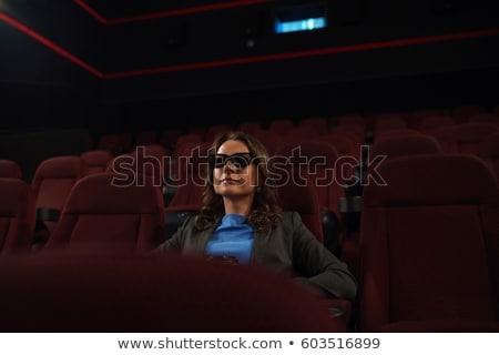 meisje · bioscoop · muziek · Blauw · stoel · star - stockfoto © vlad_star