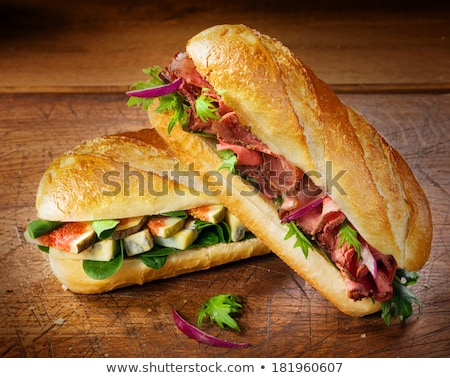 Crisp bread with smoked beef Stock photo © Digifoodstock
