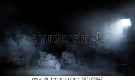 Stock photo: Image of dense fume swirling in the dark interior