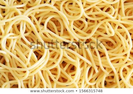 Dettaglio cotto spaghetti in giro forcella Foto d'archivio © Digifoodstock