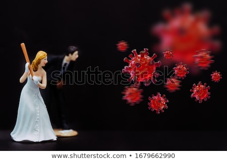 Menyasszony vőlegény gyep erdő mosoly férfi Stock fotó © tekso