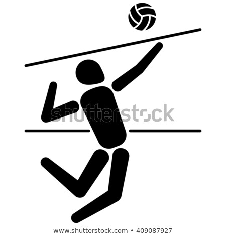Volleyball player stretching at court Stock photo © wavebreak_media