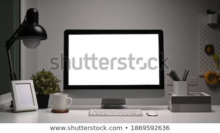 Desktop pc and various office accessories on table Stock photo © wavebreak_media