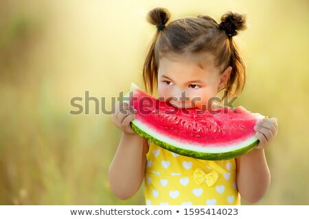 Little girl with watermelon Stock photo © Gbuglok