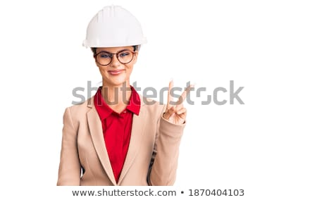 Młodych budowniczy zwycięstwo gest Zdjęcia stock © RAStudio