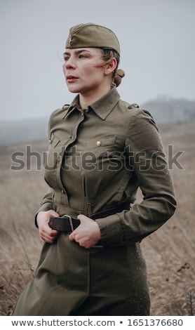 portrait of two women in field stock photo © is2