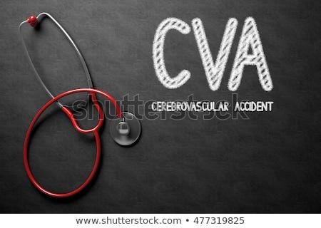 síndrome · quadro-negro · ilustração · 3d · preto · médico - foto stock © tashatuvango