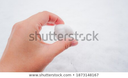 woman showing snowball Stock photo © IS2