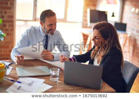 A portrait of two business colleagues stock photo © IS2