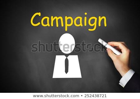 ad campaign on chalkboard in the office stock photo © tashatuvango