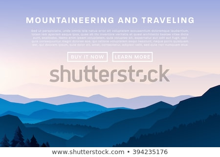 Vector illustration of Climbing, Trekking, Hiking, Mountaineering. Extreme sports, outdoor recreatio Stock photo © Leo_Edition