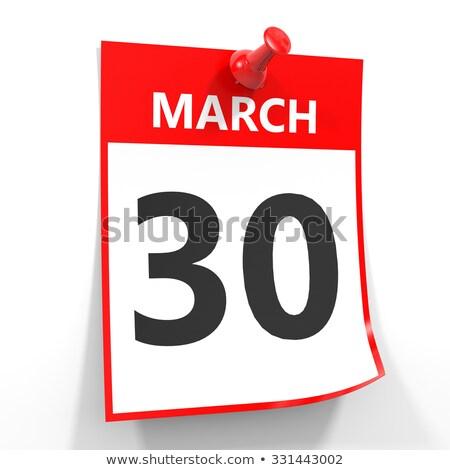 Fal naptár piros tő 30 üzlet Stock fotó © Zerbor