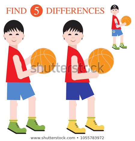 Boys in five different actions Stock photo © bluering