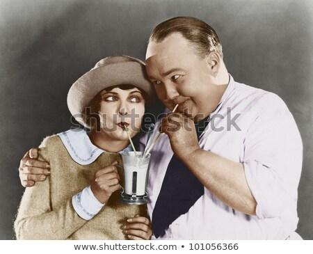 разделение женщину человека питьевой мужчины Сток-фото © IS2