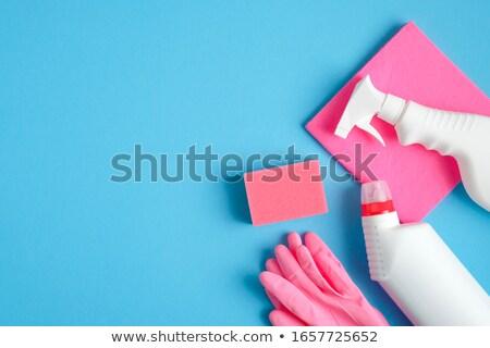 Vista guantes servilleta verde limpieza patrón Foto stock © wavebreak_media