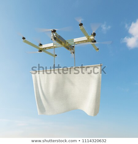 flying drone with copy space for logo and masking channel Stock photo © denisgo