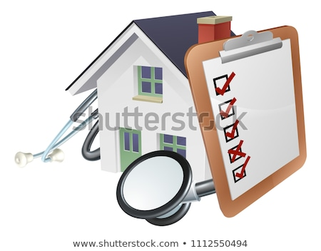House Stethoscope Clip Board Concept Stock photo © Krisdog