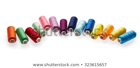 Makara mor beyaz yalıtılmış dizayn kumaş Stok fotoğraf © OleksandrO