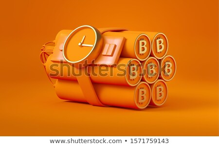 Red dynamite 3D rendering illustration on white background Stock photo © djmilic