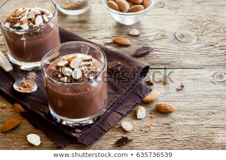 chocolate pudding mousse with avocado stock photo © melnyk