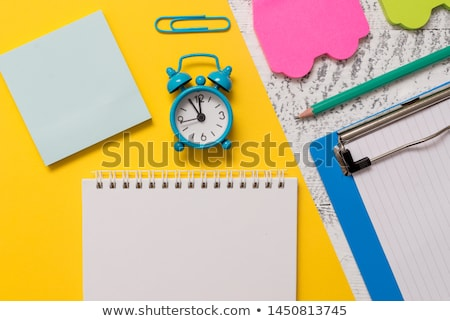 sticky · notes · zes · kleurrijk · kantoor · achtergrond · oranje - stockfoto © CsDeli