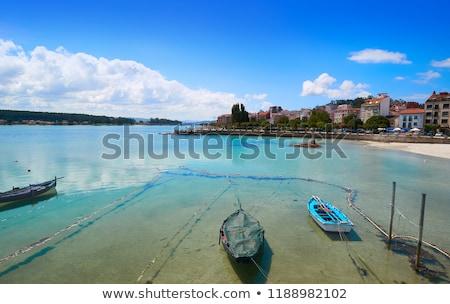 Bosje strand galicië Spanje hemel water Stockfoto © lunamarina
