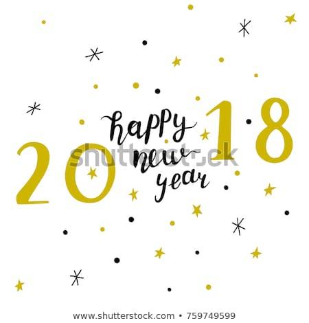 Minimalist happy new year tebrik kartı Retro geometrik parti Stok fotoğraf © ussr