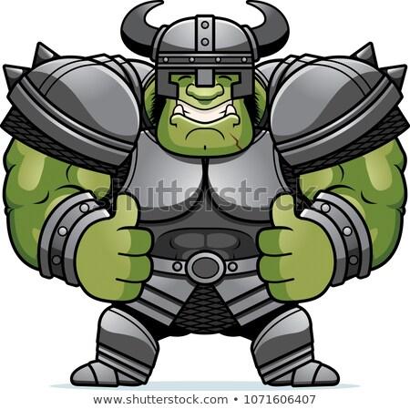Cartoon Orc Thumbs Up Stock photo © cthoman